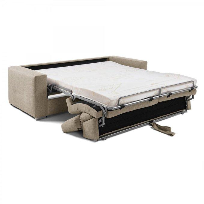 Диван-кровать Queen бежевого цвета с полиуретановым матрасом