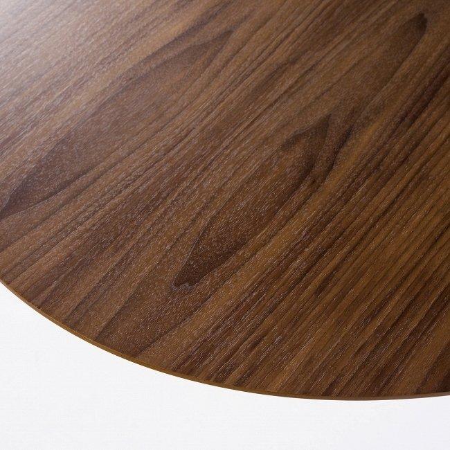 Стол обеденный Tulip Wood со столешницей коричневого цвета