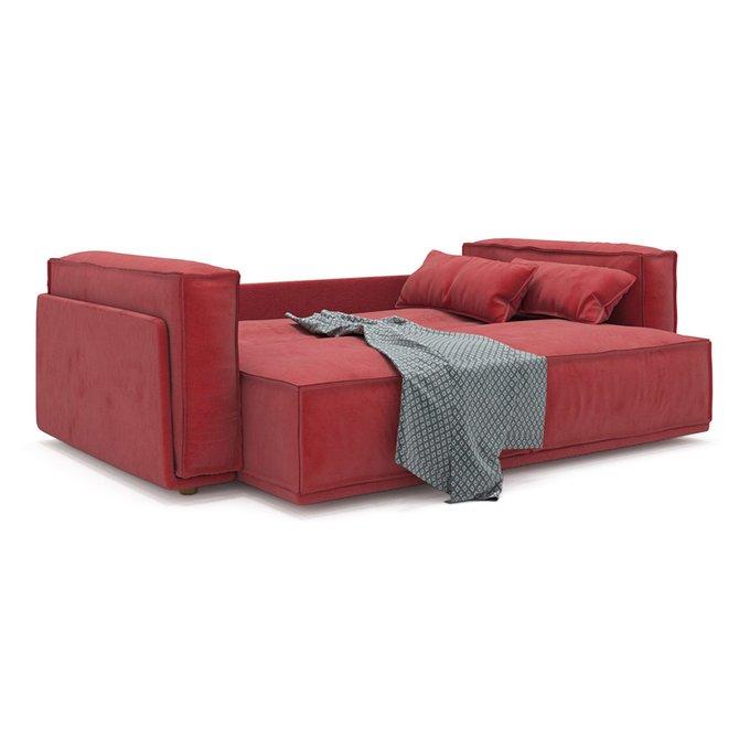 Диван-кровать Vento light long двухместный красного цвета