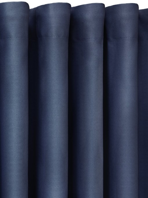 Штора Блэкаут Midnight 170х270 темно-синего цвета