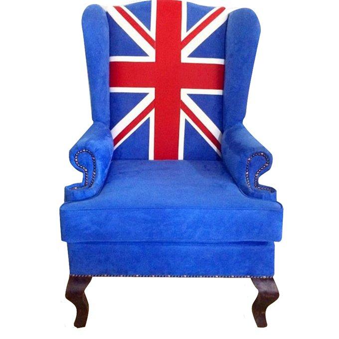 Каминное кресло Union Jack с подлокотниками