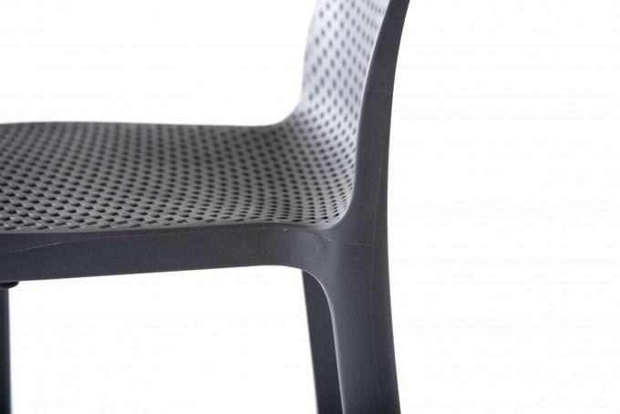 Барный стул Севилья из пластика темно-серого цвета