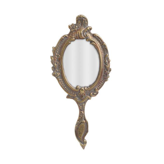 Зеркало настольное в раме золотого цвета