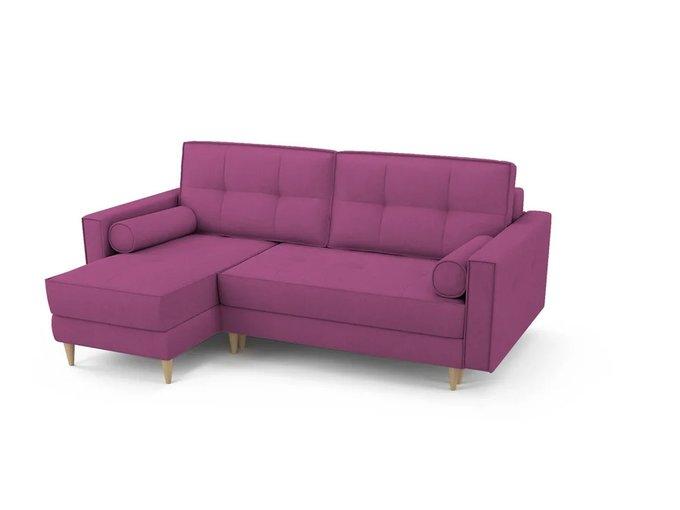 Угловой Диван-кровать Отто пурпурного цвета левый