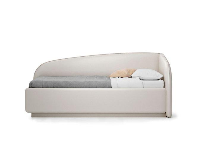 Кровать Amelia светло-бежевого цвета с решеткой 90х190