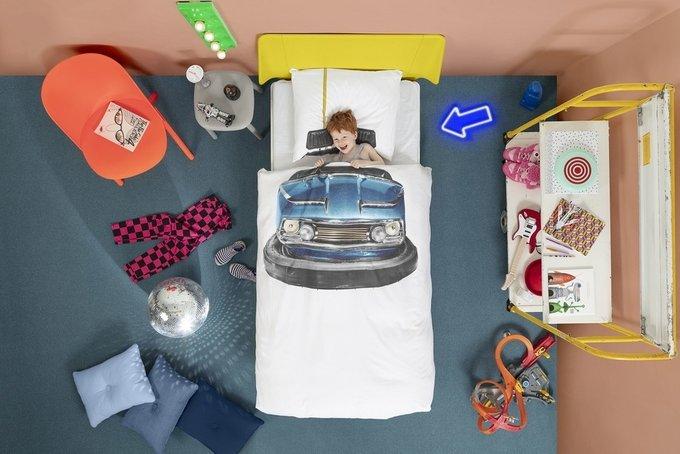 Комплект постельного белья Бамперные машинки