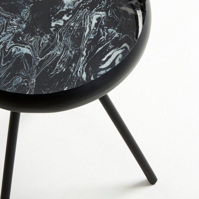 Приставной столик Reuber черного цвета