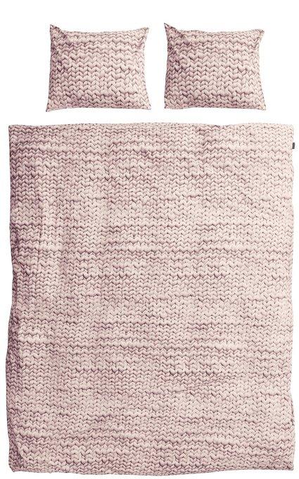 """Комплект постельного белья """"Косичка"""" 200х220 розовый фланель"""