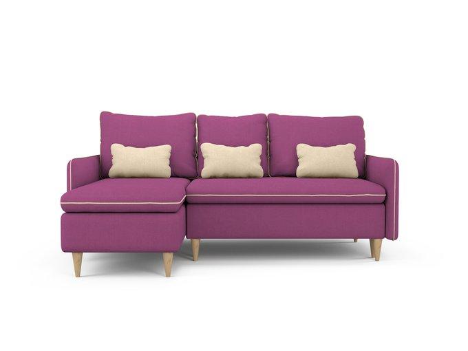 Угловой Диван-кровать Ron левый пурпурного цвета