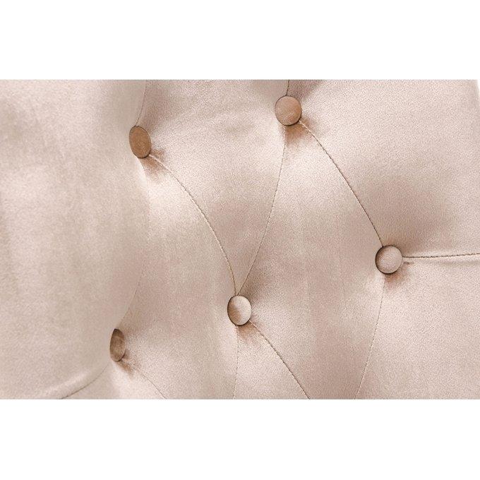 Стул Elegance dark walnut fabric beige бежевого цвета