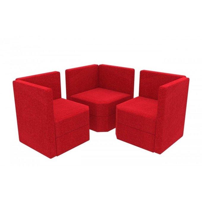 Угловое кресло Норд красного цвета