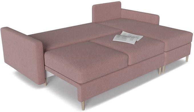 Диван угловой Белфаст 2 розового цвета