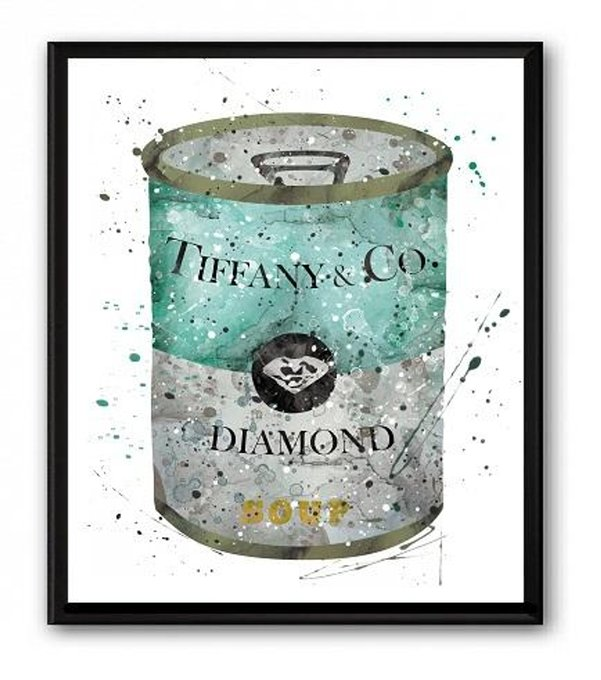 Постер Soup Tiffany & CO А4 на бумаге