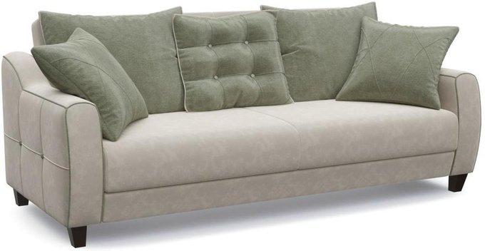 Диван-кровать прямой Френсис Флэтфорд серо-бежевого цвета