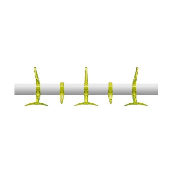 Вешалка Hanger с крючками зеленого цвета
