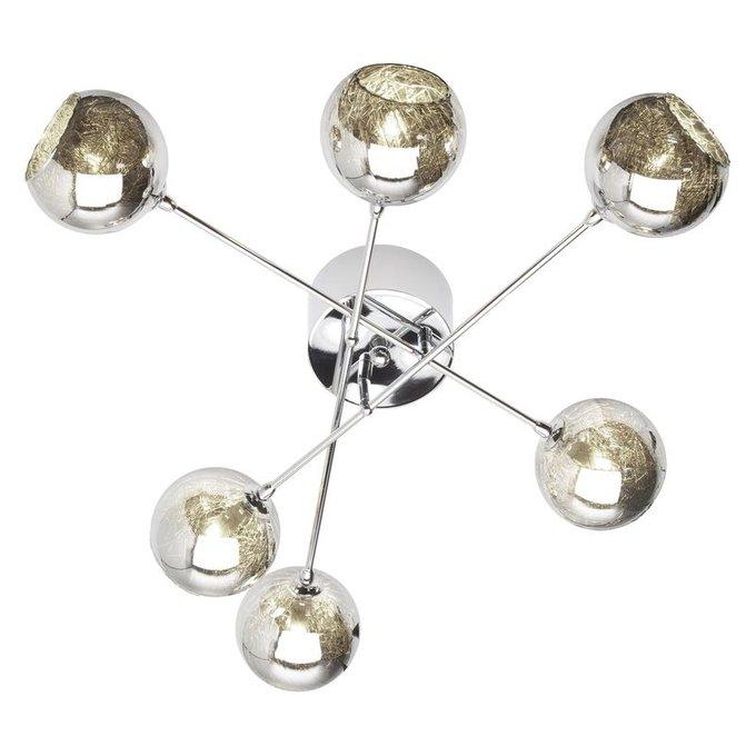 Потолочная люстра Brilliant Jewel с плафонами из коричневого стекла