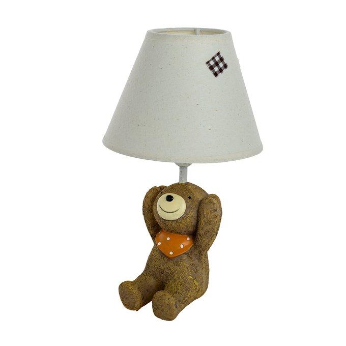 Детская настольная лампа Медвежонок Ничего не слышу