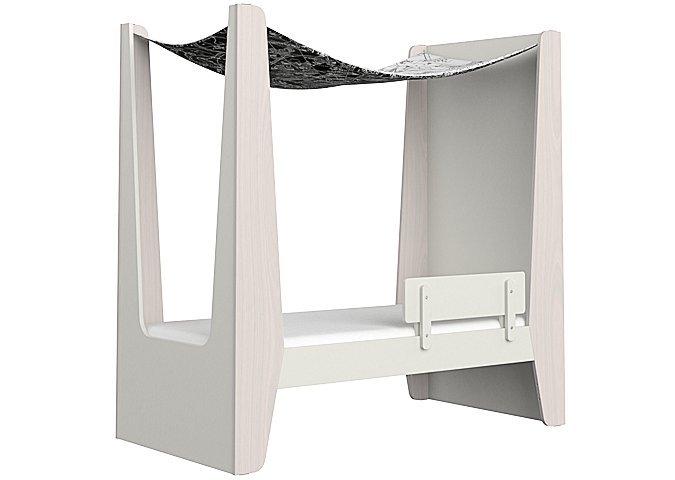 Кровать-домик М молочного цвета