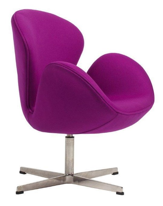 Кресло Swan Chair лилового цвета