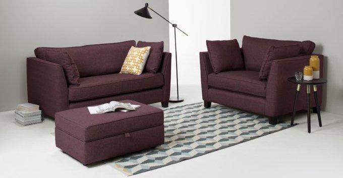 Трехместный раскладной диван Wolsly темно-пурпурный