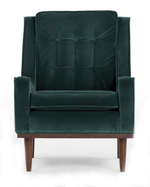 Кресло Элай зеленого цвета
