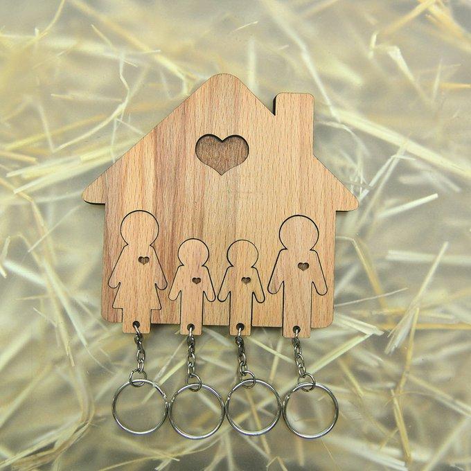 Ключница «семья с двумя сыновьями»