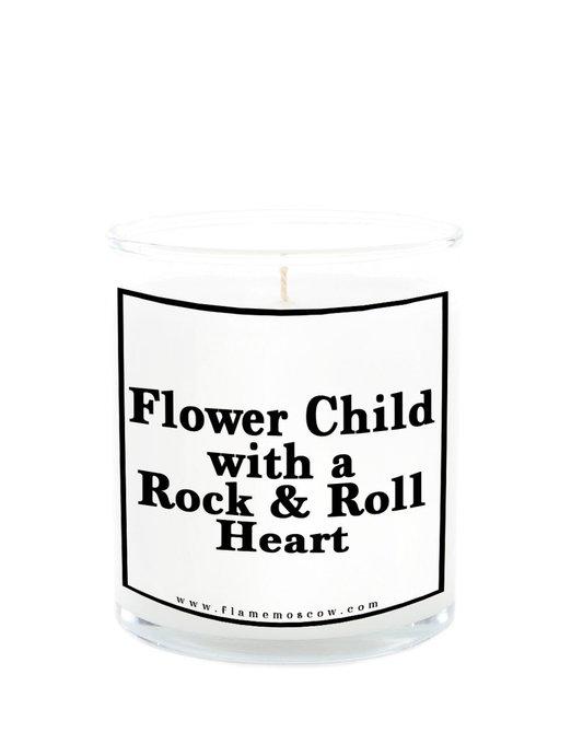 Ароматическая свеча Flower Child из 100% кокосового воска