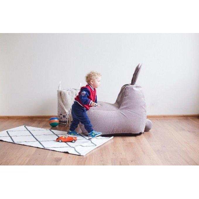 Детский бескаркасный пуф-заяц велюр