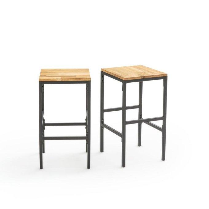 Набор из двух барных стульев Hiba на металлическом каркасе