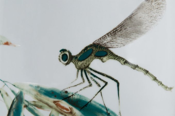 Табурет Dragonfly из керамики