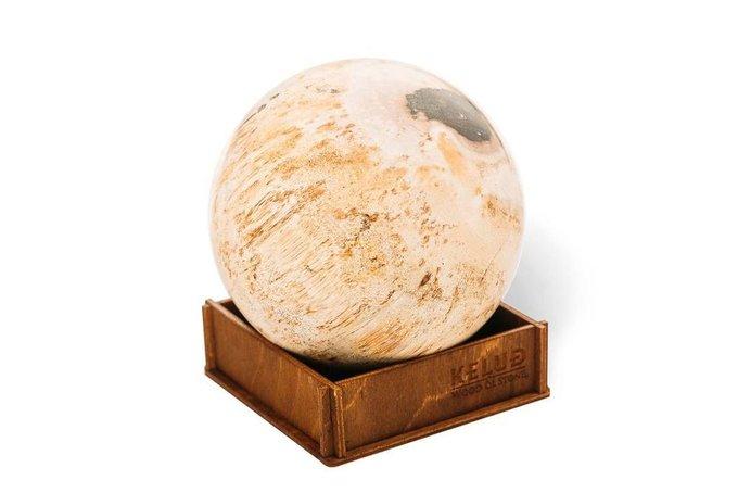 Декоративный шар из окаменелого дерева 383670