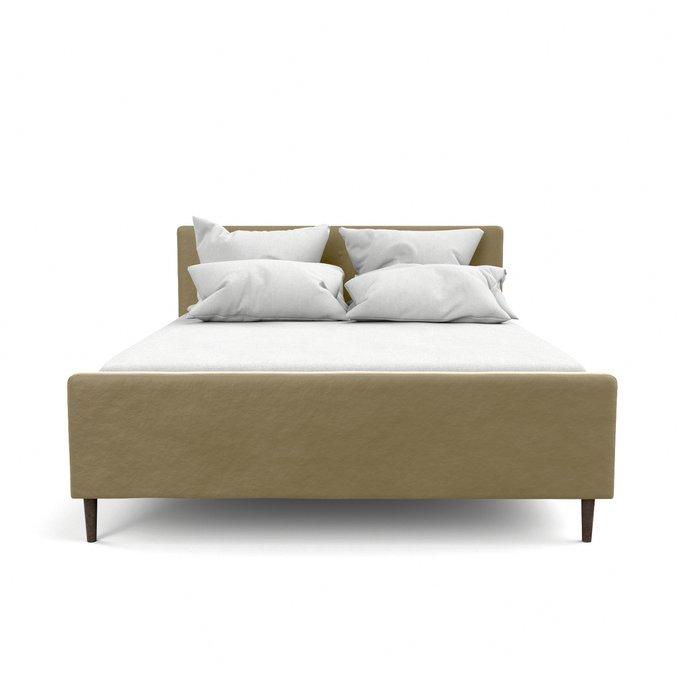 Двухспальная кровать Кристина бежевого цвета 180х200