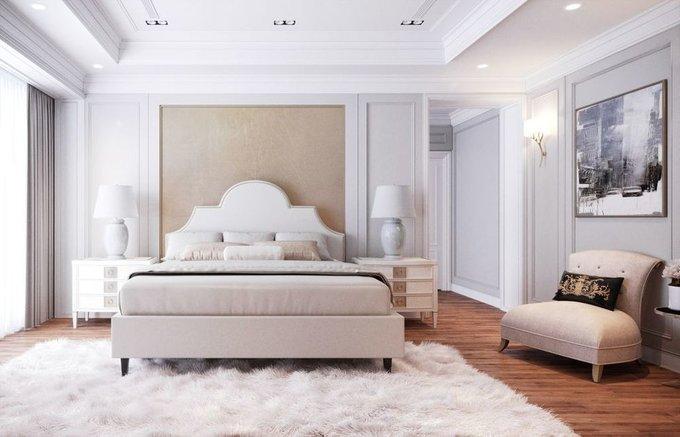 Кровать Бриэль 160х200 светло-бежевого цвета  с подъемным механизмом