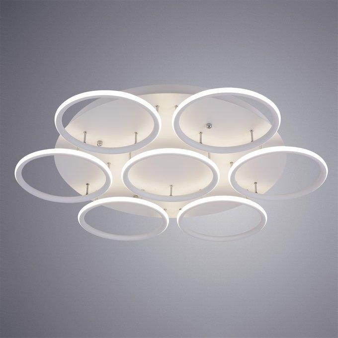 Потолочная светодиодная люстра белого цвета