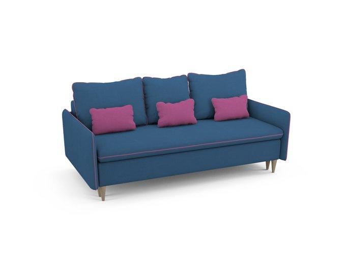 Диван-кровать Ron синего цвета