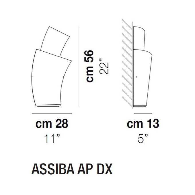 Настенный светильник Vistosi ASSIBA из муранского стекла