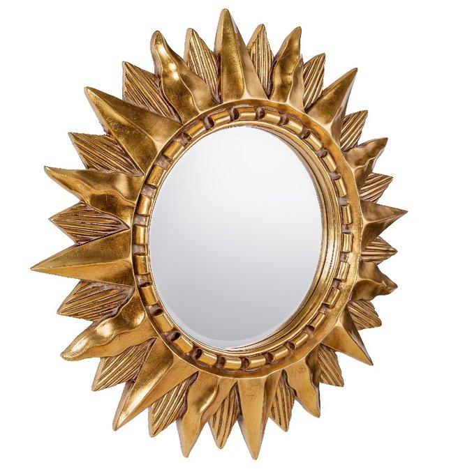Настенное Зеркало-солнце Sol Gold