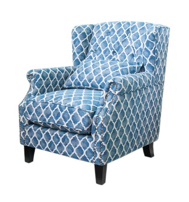 Кресло Scott blue wave сине-белого цвета
