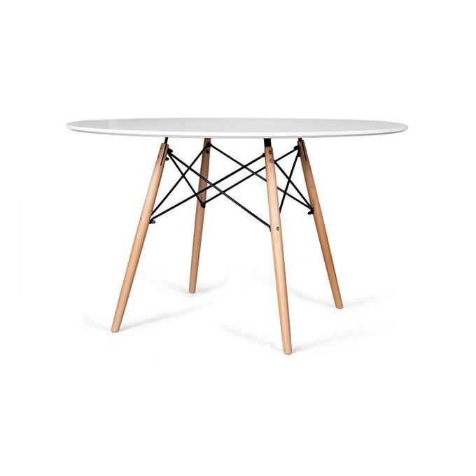 Обеденный стол Eames с ножками из массива бука