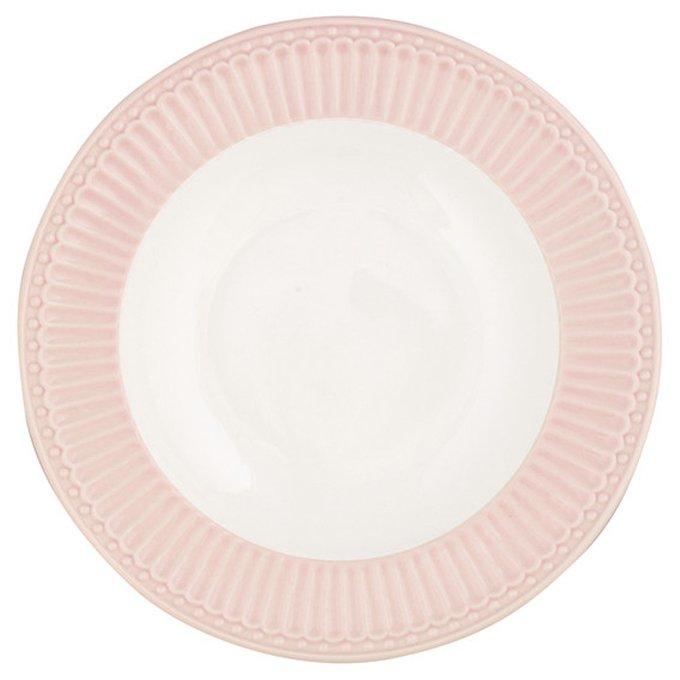 Глубокая тарелка Alice pale pink из фарфора