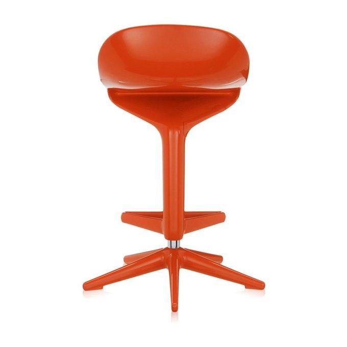 Стул барный Spoon оранжевого цвета
