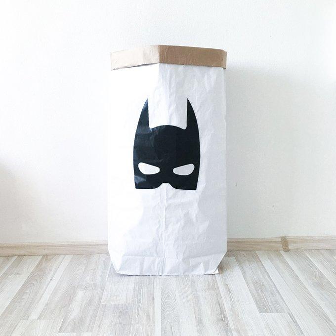 Эко-мешок для игрушек из крафт бумаги Batman