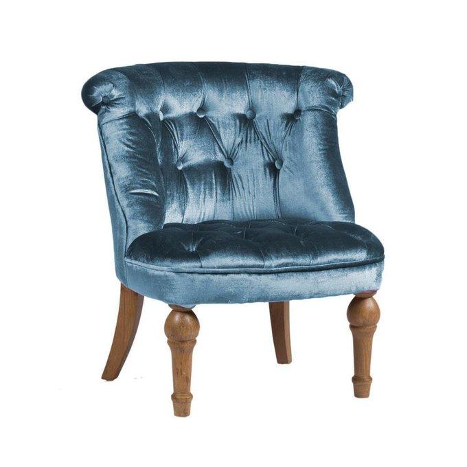 Кресло Sophie Tufted Slipper Chair Морская Волна Микровелюр