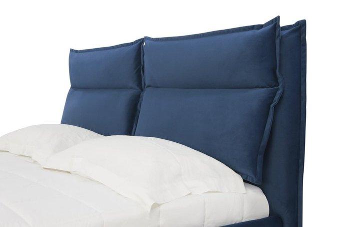 Кровать Wing синего цвета 140х200