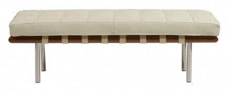 Кушетка Barcelona Bench Cream Premium Leather