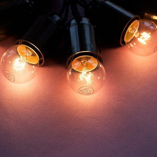 Ретро гирлянда с лампами накаливания Эдисон на 45 лампочек
