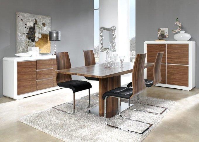 Прямоугольный обеденный стол Dupen цвета орех