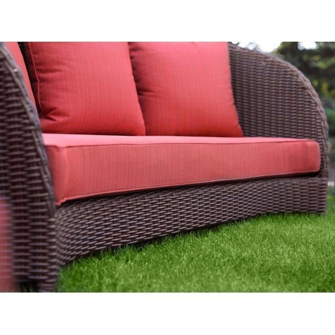 Диван Тюльпан с красными подушками