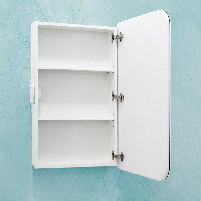 Шкаф зеркальный Monaco 55 белого цвета