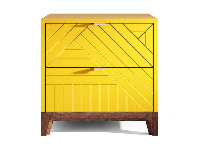 Прикроватная тумба Case желтого цвета